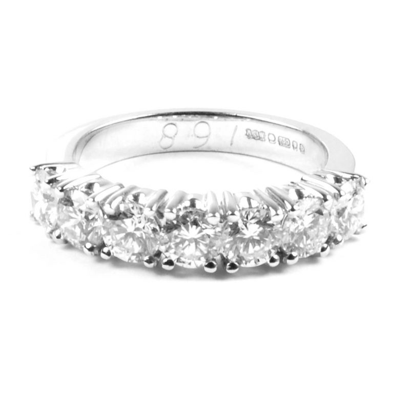 Diamond Half Hoop Eternity Ring
