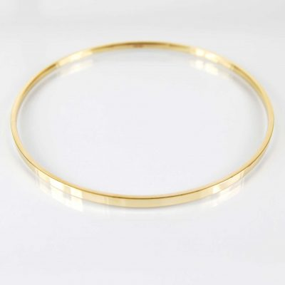 9 Carat Yellow Gold Slave Bangle (477)