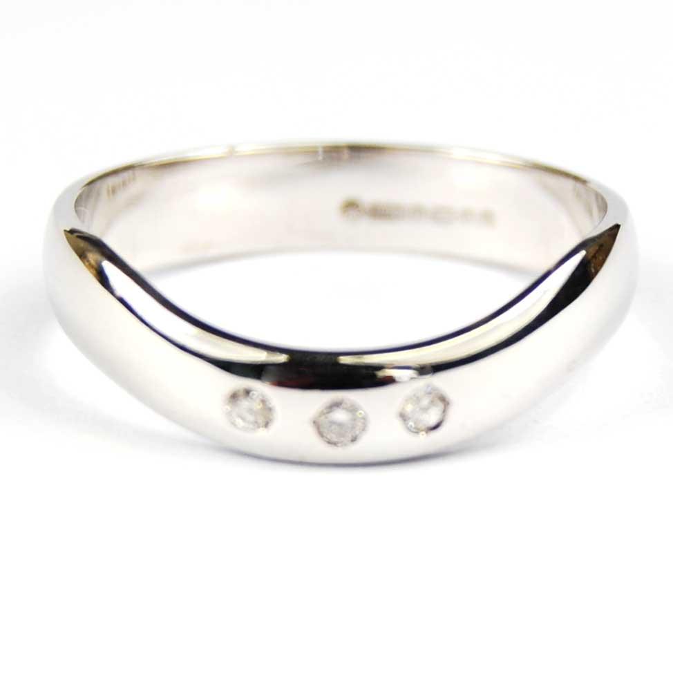 wedding ring 18 carat white gold set
