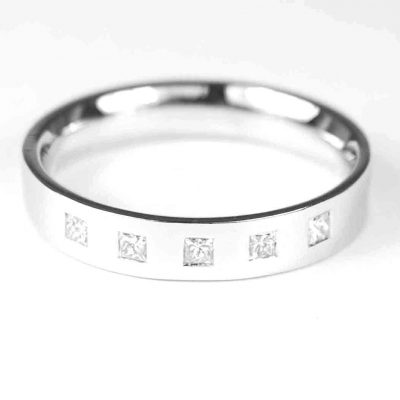 Wedding Ring 18ct White Gold Diamond Set