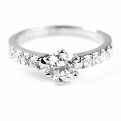 Diamond Solitaire Ring,Platinum