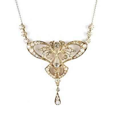Art Nouveau Diamond Necklace