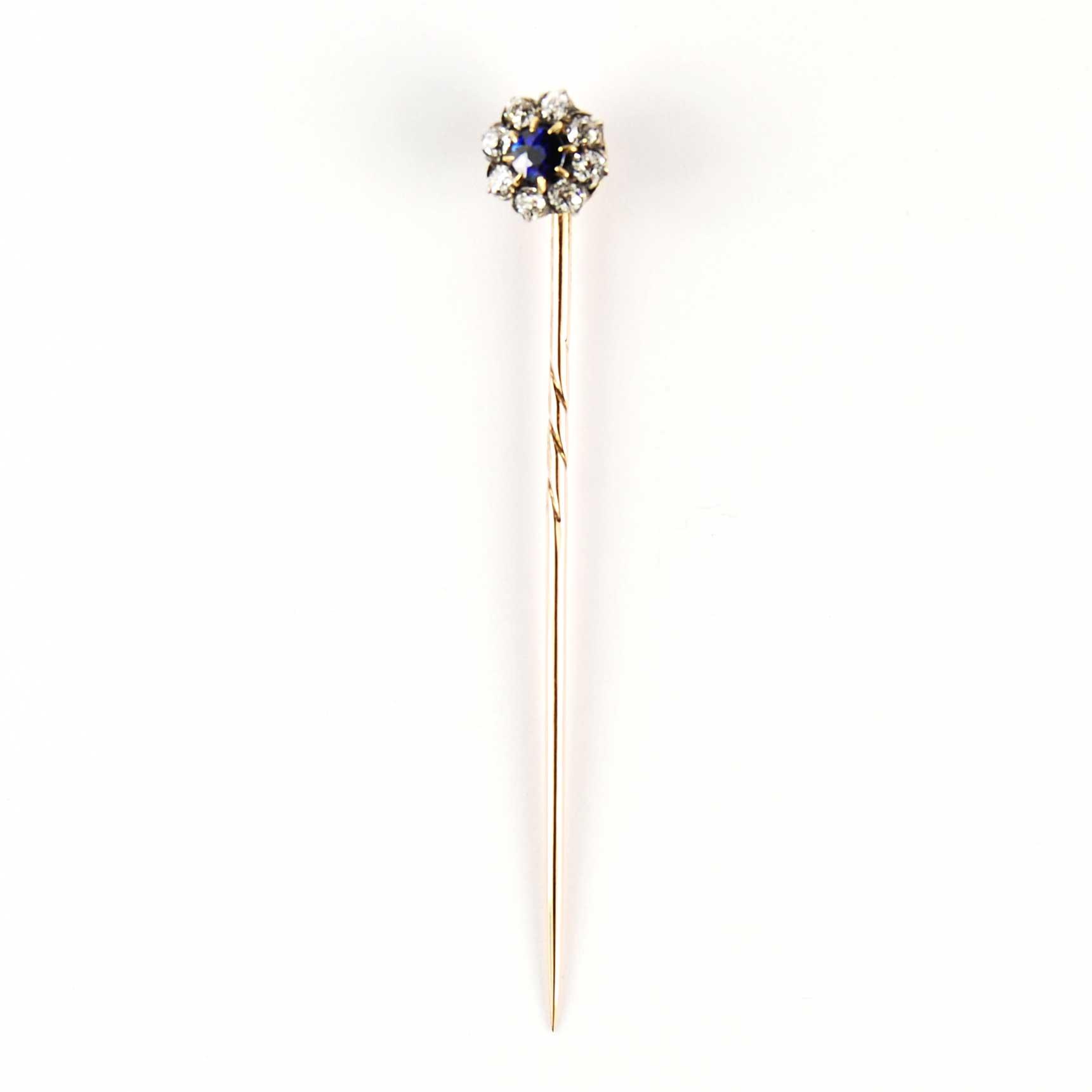 Victorian Sapphire & Diamond Tie Pin