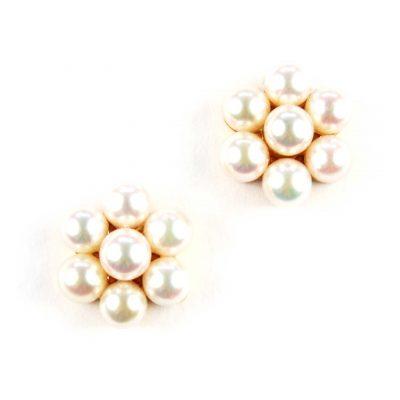 Cutured Pearl Cluster Earrings