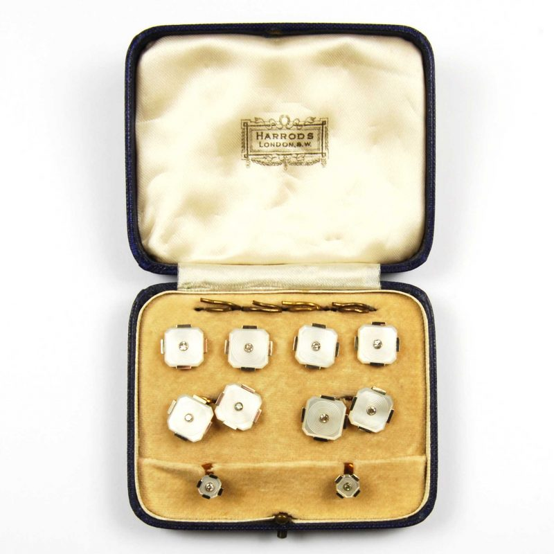 1930's Mother of Pearl & Diamond Dress Set