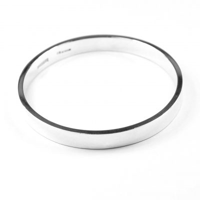Sterling Silver RAound Bangle Width : 8mm