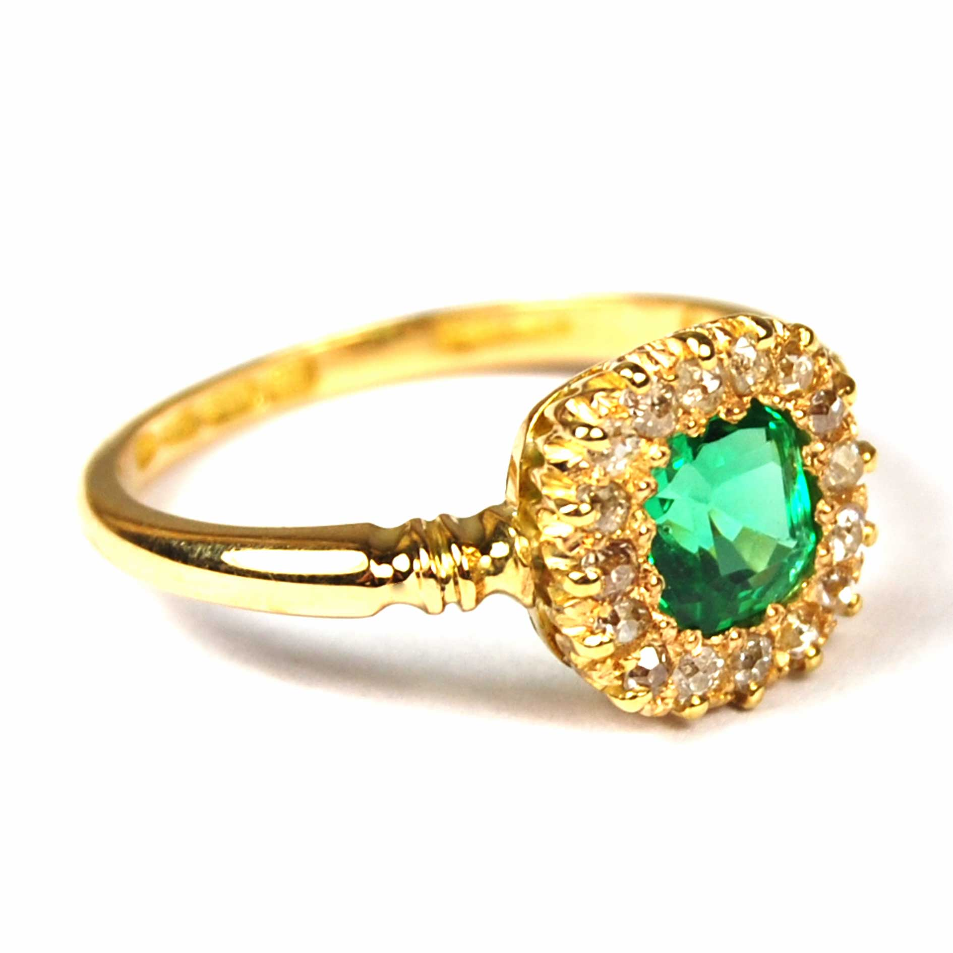 antique emerald and cluster ring parkhouse