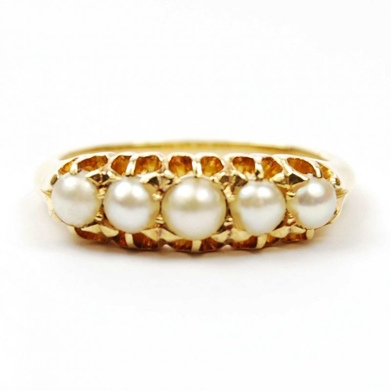 Antique Pearl Set Ring