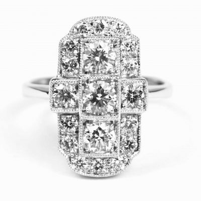 Art Deco Design Diamond Ring