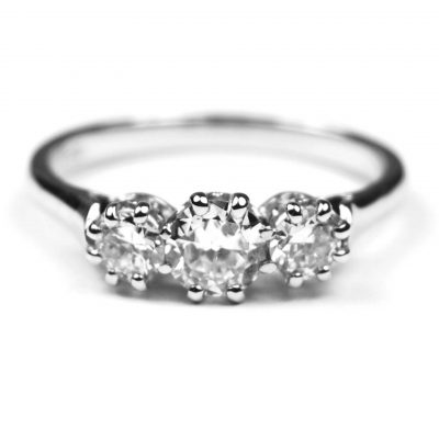 Three Stone Diamond aEngagement Ring