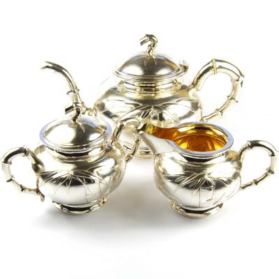 Tuck Chang Chinese Export Silver Tea Set