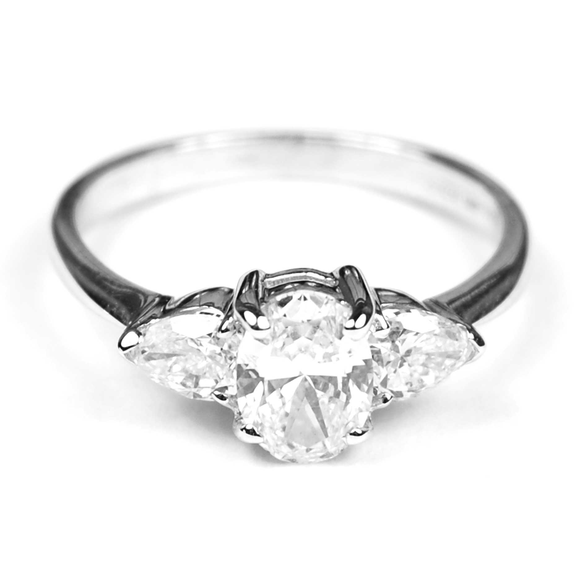 Three Stone Diamond Engagement Ring - Mark Parkhouse Antiques ... 68b6065abc