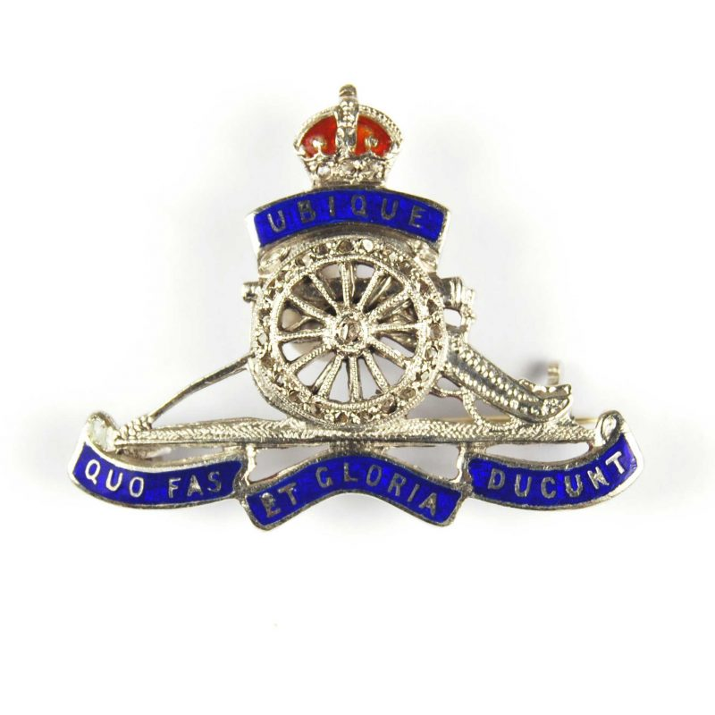 Royal Artillery Diamond Set Sweetheart Brooch