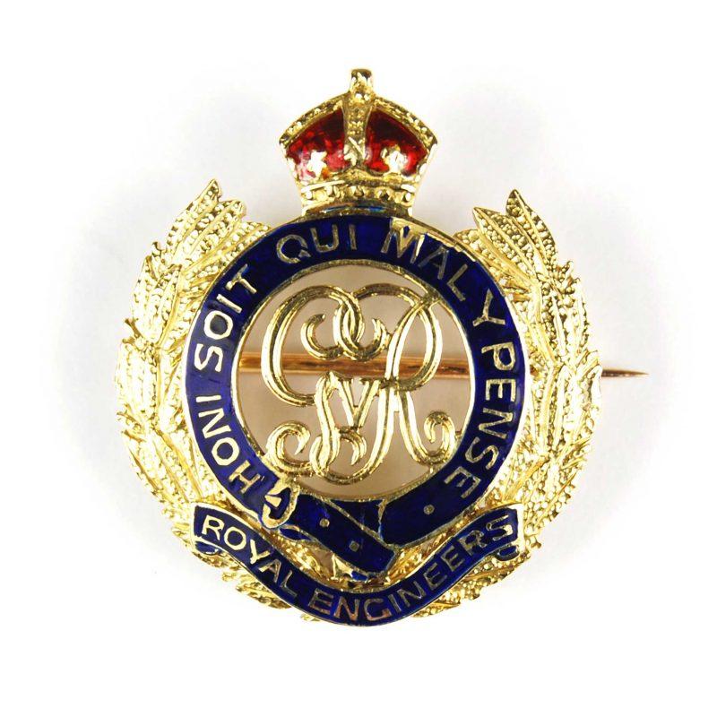 Vintage Royal Engineers Sweetheart Brooch