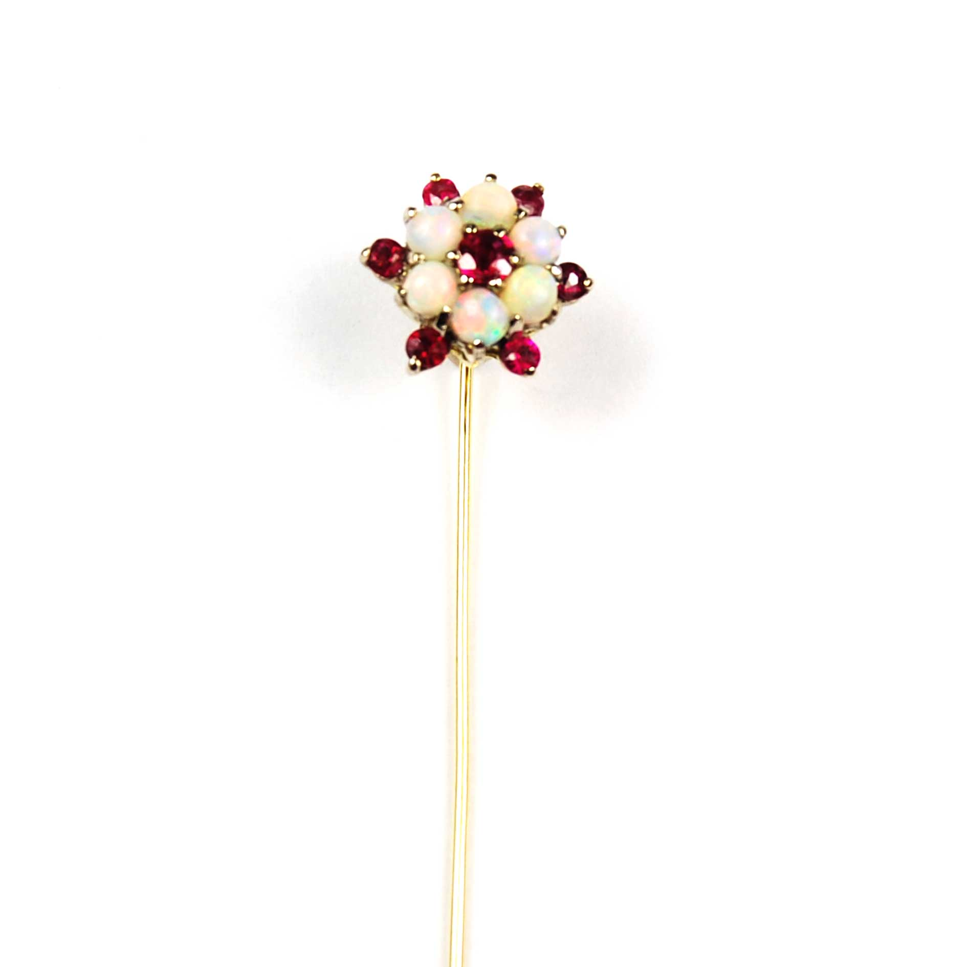Opal & Ruby Set Stick Pin