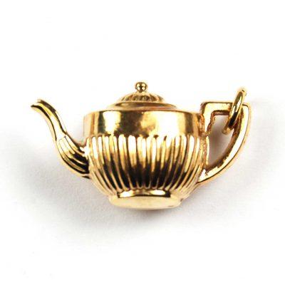 Vintage 9 Carat Gold Teapot Bracelet Charm