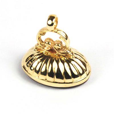 Vintage 9 Carat Gold Cornelian Set Seal