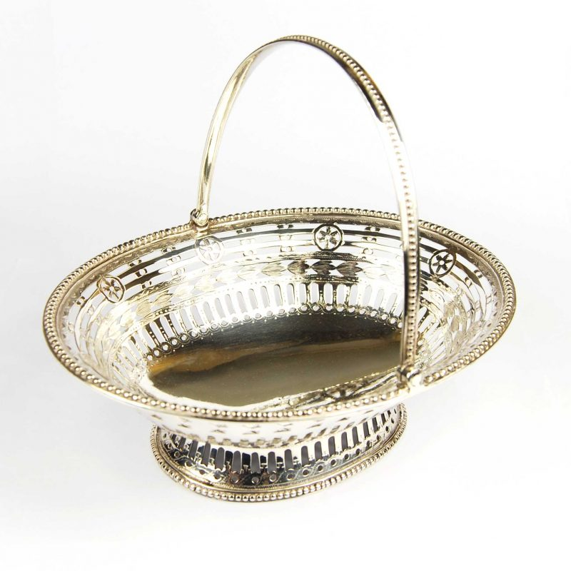 Antique George 111 Silver Sweetmeat Basket