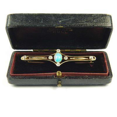 Antique Opal & Diamond Brooch