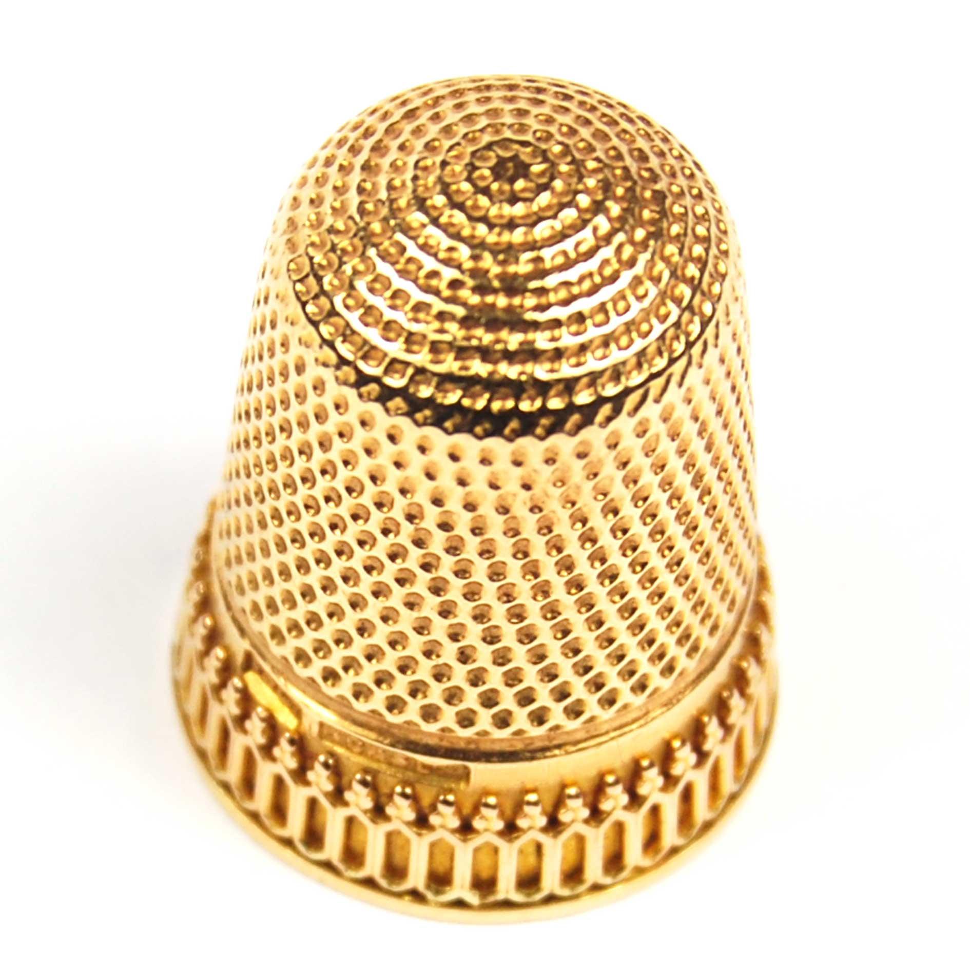 Antique Gold Thimble