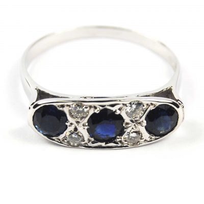 Pre-owned Sapphire & Diamond Ring
