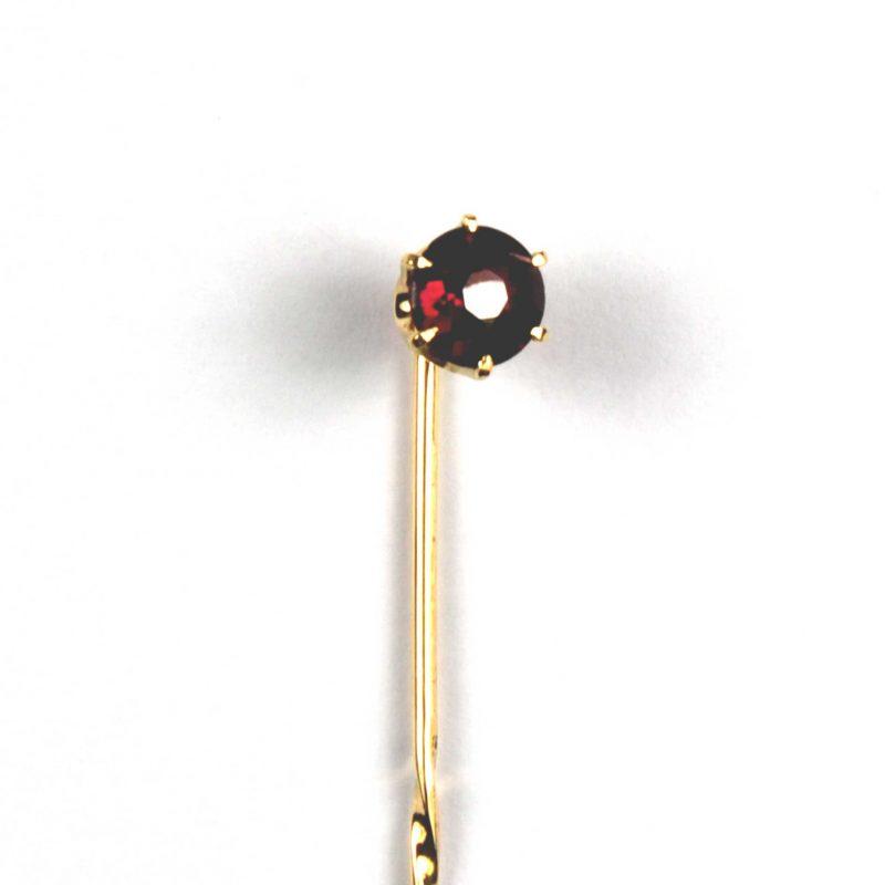 Victorian Garnet Set Stick Pin