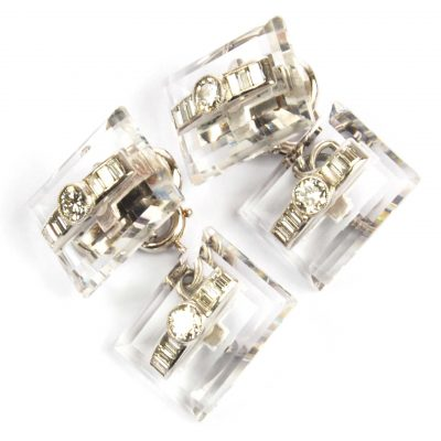 Art Deco Diamond Set Cufflinks