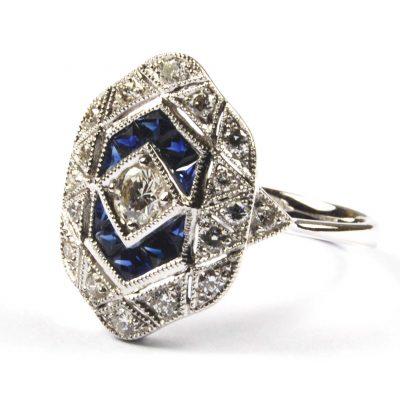 Diamon d & Sapphire Set Ring