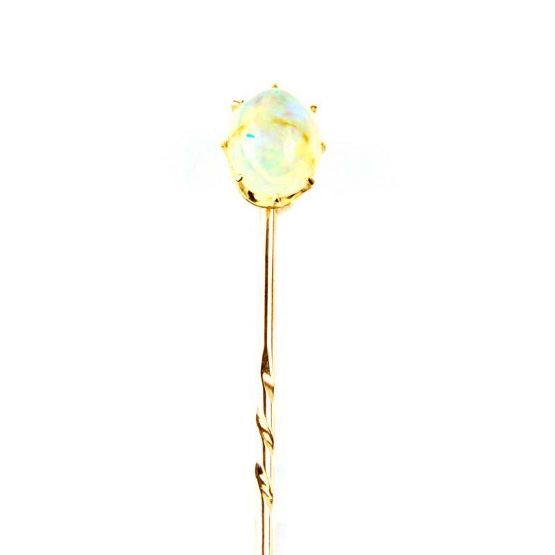 Opal Set Tie Pin