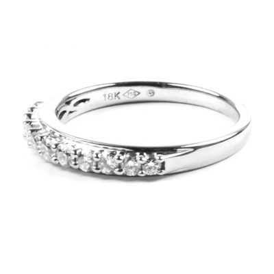 Diamond Set 18 Carat White Gold Half Eternity Ring