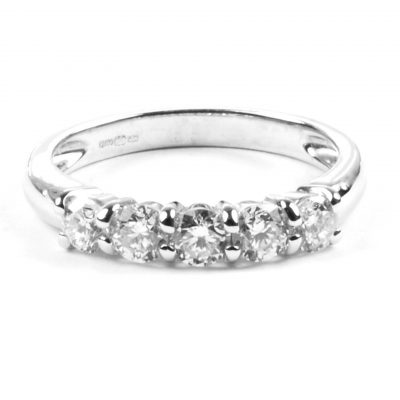 Diamond Set Half Eternity Ring