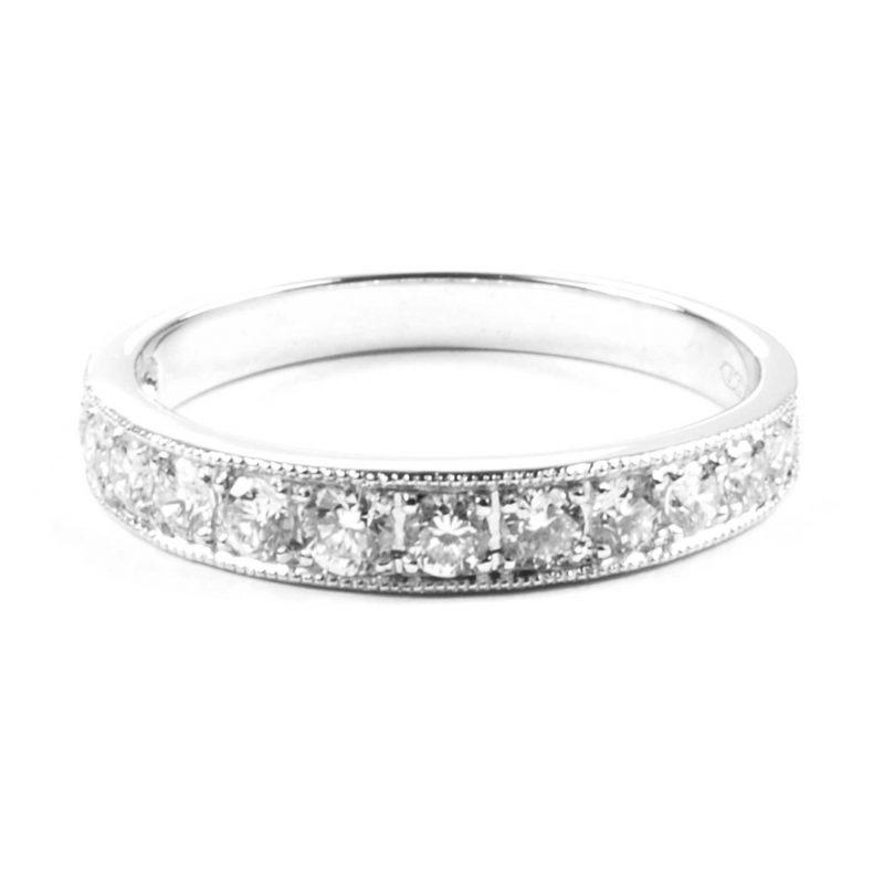 Diamond Set Half Eternity Ring