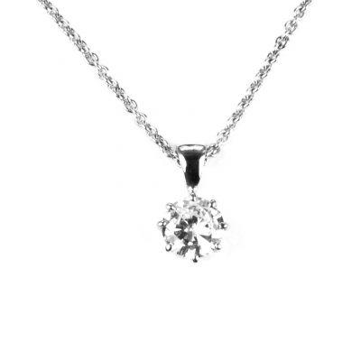 Singl;e Stone Diamond Pendant
