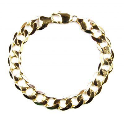 9 Carat Yellow Gold Curb Link Bracelet