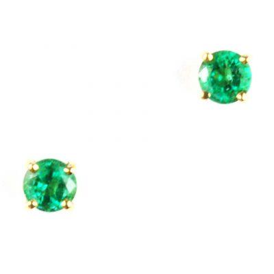 Emerald Ear Studs