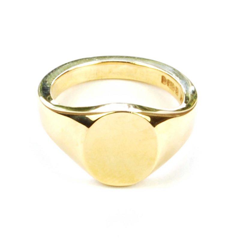 Lady's 9 Carat Yellow Gold Signet Ring