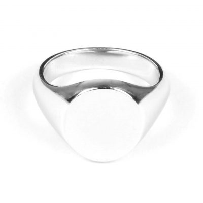9 Carat White Gold Signet Ring