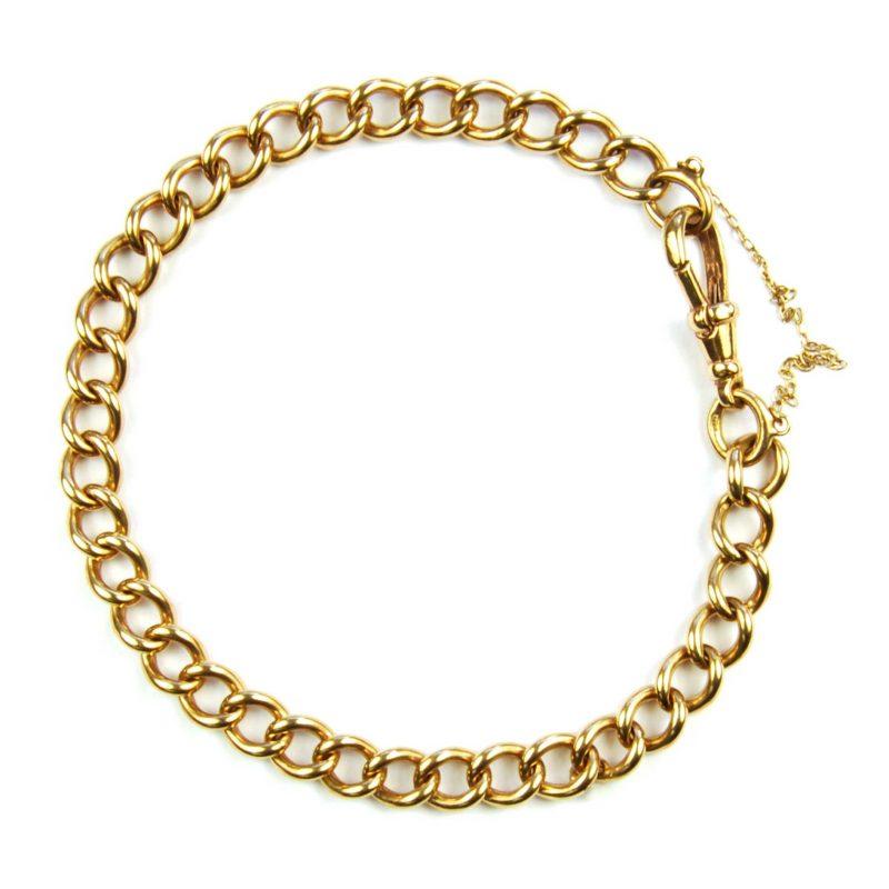 9 Carat Rose Gold Curb Link Bracelet