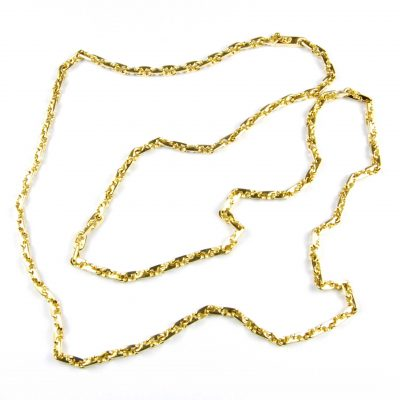 Bulgari 18 Carat Yellow Gold Fancy Link Chain