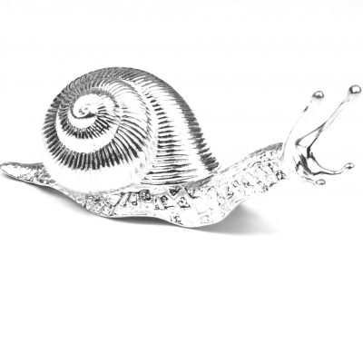 Sterling Silver Snail Paperweight