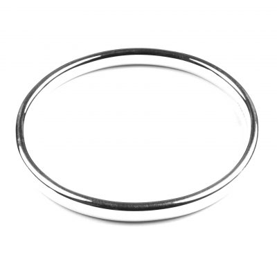 Oval Sterling Silver Bangle