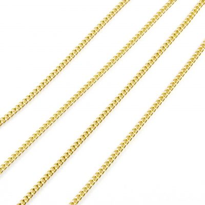 9 Carat Yellow Gold Curb Link Chain