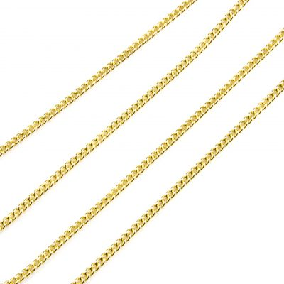 9 Carat Yellow Gold Curb Link Chain-16""