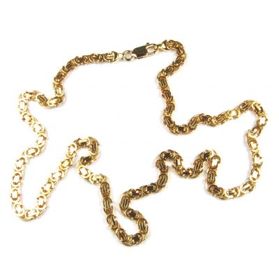 9 Carat Yellow Gold Fancy Link Chain