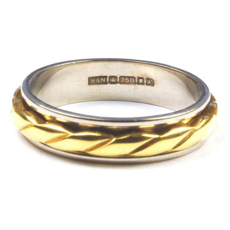 18 Carat Two Colour Gold Wedding Ring