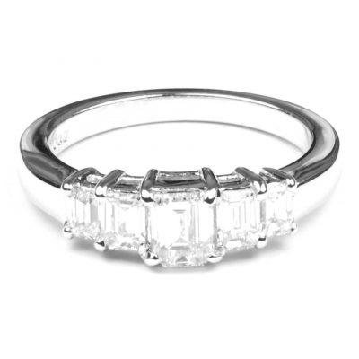Five Stone Diamond Ring in Platinum