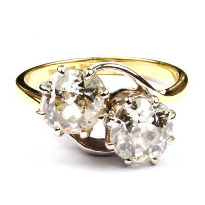 Edwardian Diamond Crossover Ring