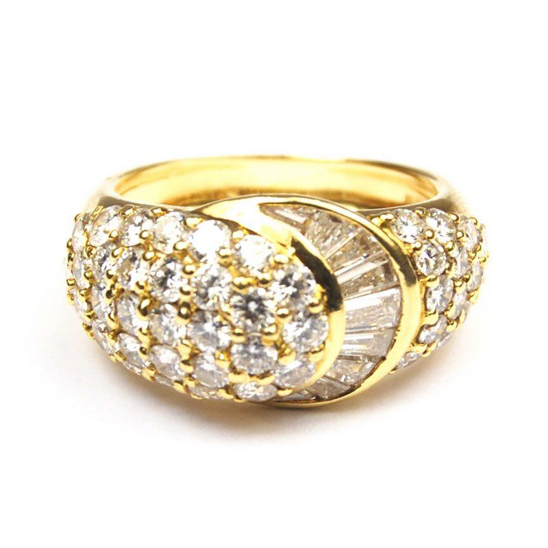 Pave Diamond Bombe Ring